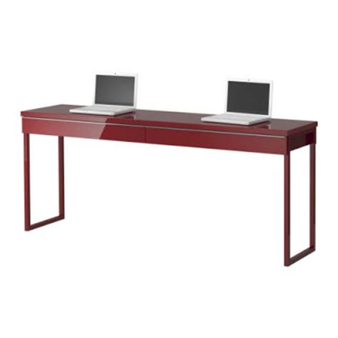 narrow desks for small spaces the love of beauty ikea long narrow high gloss desk