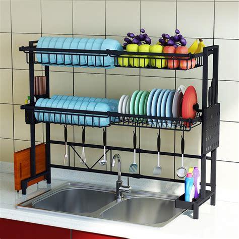 dish bowl utensils drying rack  sink drainer kitchen shelf  kitchen drying rack