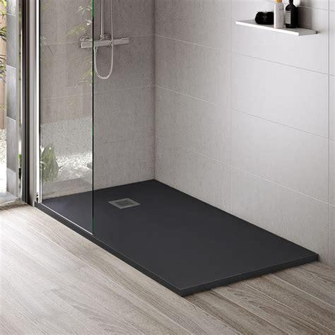 Receveur De Douche, 120x80 à 200x100 Cm, Composite Noir, Slate