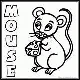 Mouse Coloring Pages Cute Word Animal Farm Popular Printables Cow Printables4kids Results Coloringhome sketch template