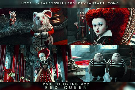 psd coloring  red queen  saleyswillers  deviantart