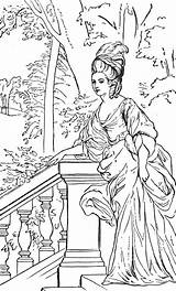 Coloring Pages Printable Adult Duchess Antoinette Marie Royal Woman Colouring Sheets Realistic Books Historical Print Abc Tumblr Supercoloring Colorings Coloriage sketch template
