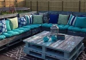 Coussin Salon De Jardin Palette : les palettes r inventent le mobilier de jardin bnbstaging le blog ~ Teatrodelosmanantiales.com Idées de Décoration