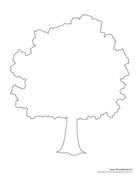 printable templates tree templates tree printables