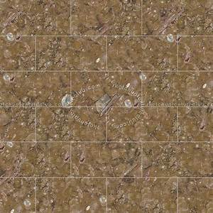Fossil brown marble tile texture seamless 14240