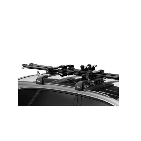 porte skis sur barres de toit thule snowpack 7322 pour 2 paires de skis ou 1 snowboard norauto fr
