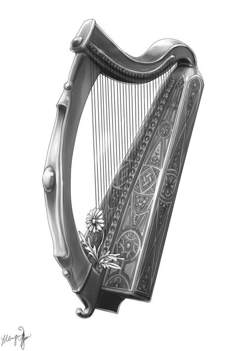 11 best images about Harp Tattoos on Pinterest | To be, Irish and The roof