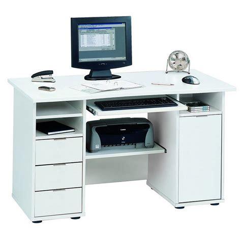 bureau ordinateur blanc bureau pour ordinateur norrköpping blanc bon prix