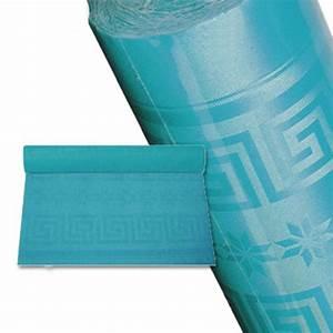 Nappe Papier Noel : nappe papier rouleau nappage bleu turquoise 25 m jetable ~ Teatrodelosmanantiales.com Idées de Décoration