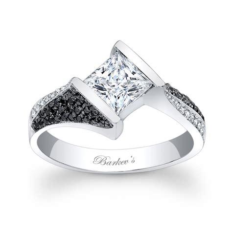 barkev s black and white engagement ring 7872lbkw