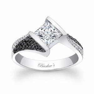 barkev39s black and white diamond engagement ring 7872lbkw With black and white diamond wedding rings