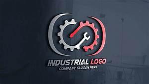 Modern, Industrial, Logo, Design, Free, Template, U2013, Graphicsfamily