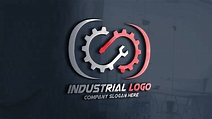 Modern Industrial Logo Design Free Template – GraphicsFamily