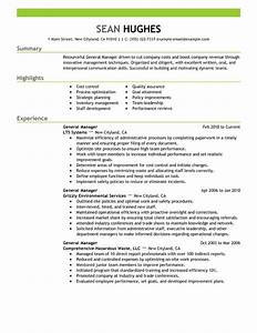 general manager resume examples created by pros With general resume sample