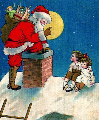 vintage christmas clip art santa  children