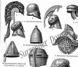 Metal Nifty Chart Metal Armored Helmets For All Occasions Edwardian Antique