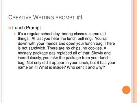 high school visual writing prompts