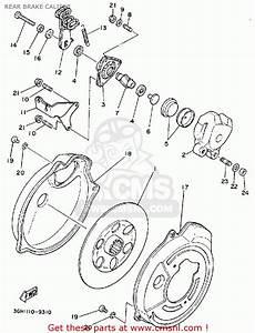 Yamaha Yfm250w Moto-4 1989 Rear Brake Caliper