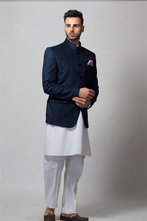 buy  rent tcr men navy blue bandhgala