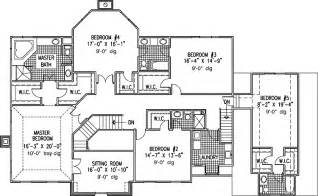 Six Bedroom House Plans Pictures by 6 Bedroom Single Family House Plans Print This Floor