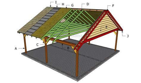 24×24 Wood Carport Plans