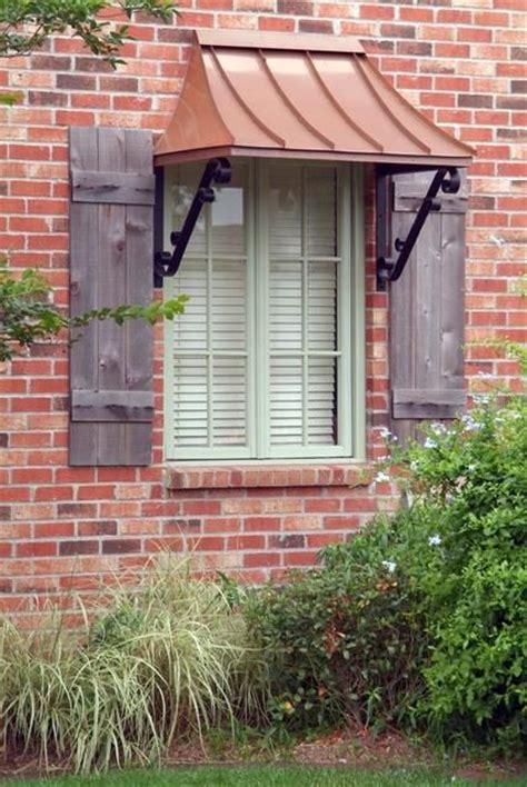 juliet style awning copper   double  scrolls juliet style window awnings pinterest