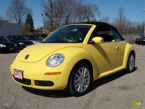 volkswagen beetle yellow 2008 sunflower yellow volkswagen new beetle se convertible