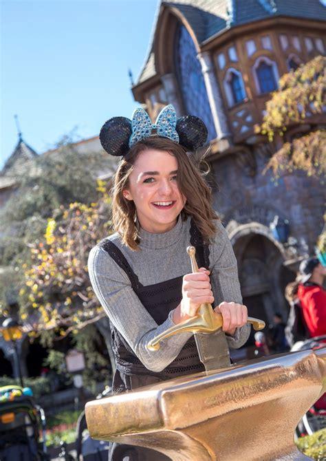 Maisie Williams at Disneyland in Anaheim, 02/01/2016 ...
