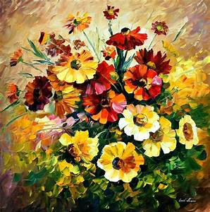 Amazing Flower Paintings By Leonid Afremov | lavagirl24