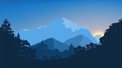 Wallpaper Sunset, Forest, Minimal, 4k, 8k, Nature, #5165