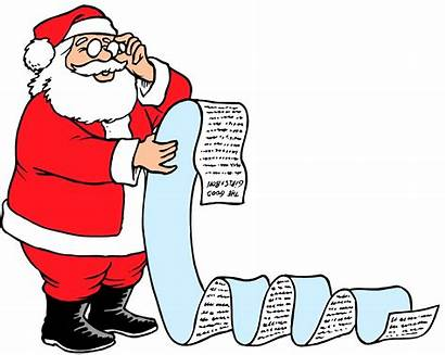 Lists Santa Negative Clip Checking Christmas Claus