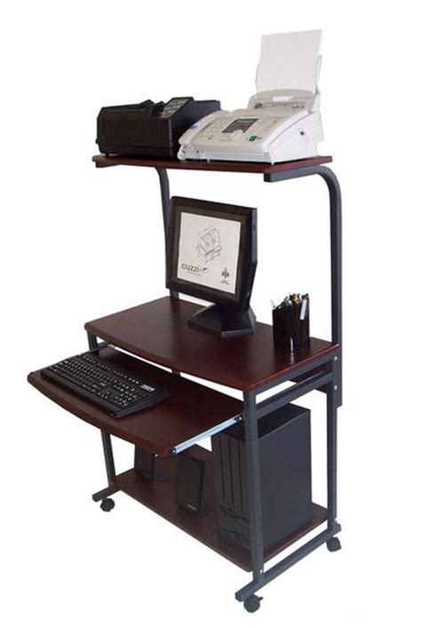 Sts 7801 Compact Portable Computer Desk W Hutch Shelf