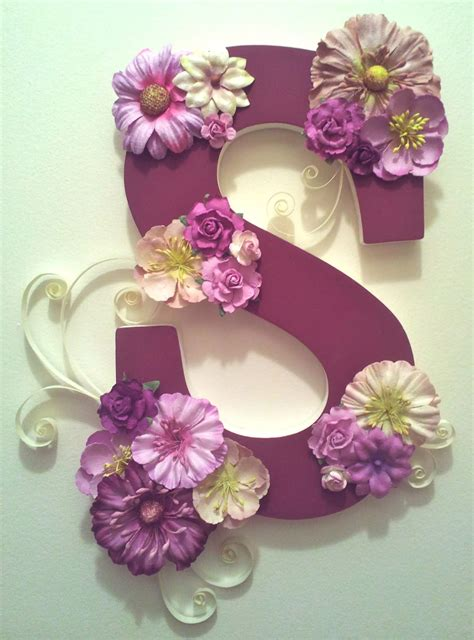 paper teal craft project  decorated wooden letter