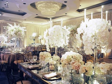 Reception Decor Photos White Orchid Candelabra