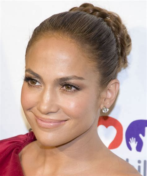 Jennifer Lopez Curly Formal Updo Braided Hairstyle   Light