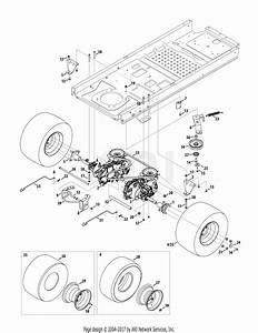 Troy Bilt 17arcacq011 Mustang 50 Xp  2015  Parts Diagram