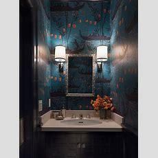 Wallpaper For Powder Rooms  Asian  Bathroom Ann