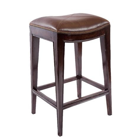 best deals on bar stools sonoma italian leather and alder wood barstool overstock