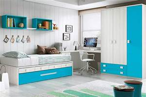 Chambre enfant garcon design avec lit gigogne glicerio for Luminaire chambre enfant avec matelas paris 14
