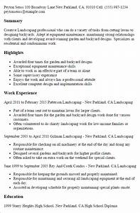 1 landscaping resume templates try them now With landscaping resume examples