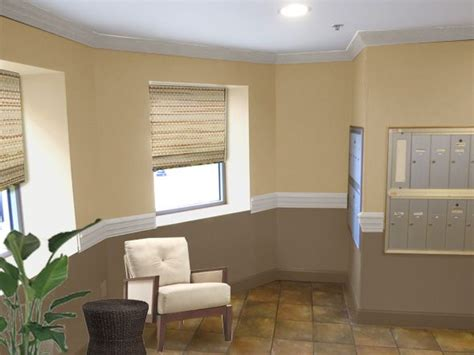 Painted Living Rooms Two- Toned Brown