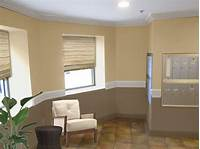 2 color wall paint designs painted living rooms two- toned brown | ... Paint Ideas ...