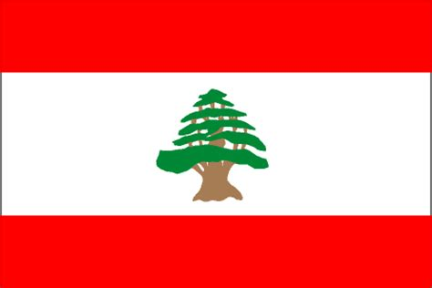 cia the world factbook 2002 flag of lebanon