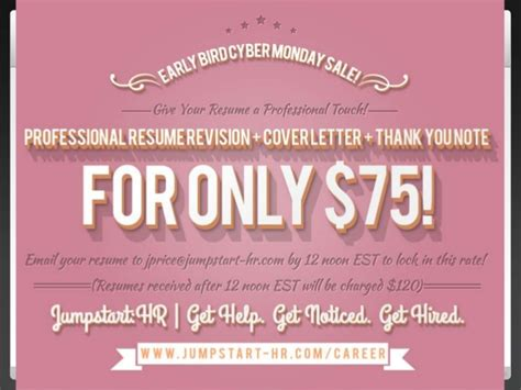 Reasons To Hire A Professional Resume Writer by Jumpstart Hr Cyber Monday Sale 2013 Top 3 Reasons To Hire A Profess