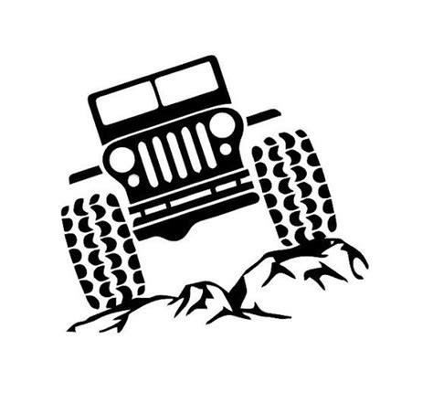 jeep sticker ideas jeep on rocks decal jeep and rocks decal by