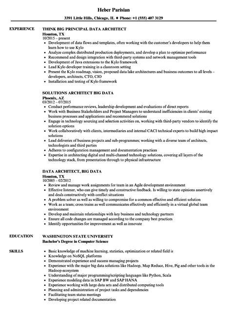 Data Architect Resume by Data Architect Big Data Resume Sles Velvet