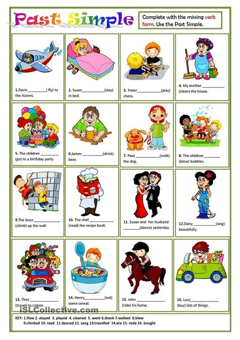1000 images about irregular verbs past simple past