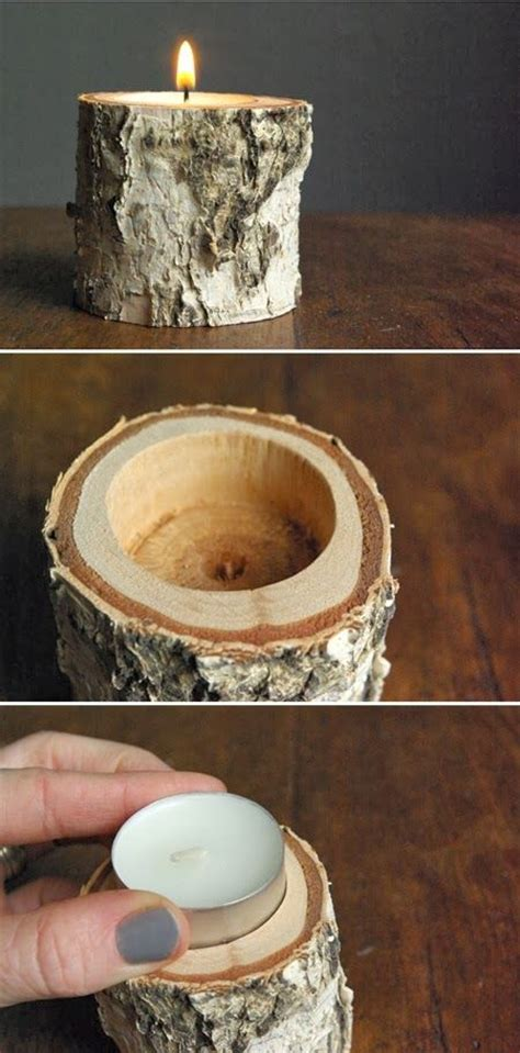 birch candle holders diy birch wood candle holder