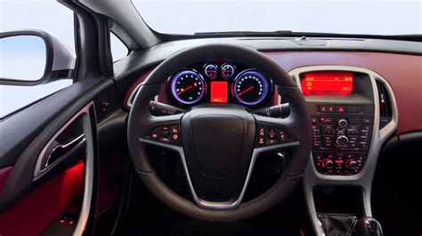 Car Interior Dashboard Panoramic Shot Stock Video Footage