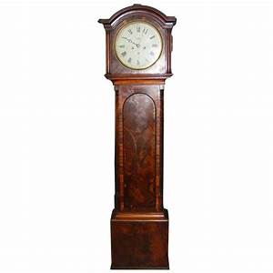 19th Century Grandfather Clock In Mahogany By An